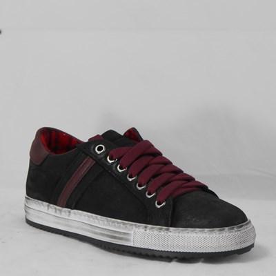 Aleandro sneaker nero e bordeaux