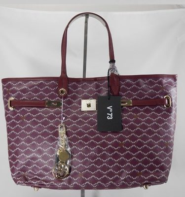 V°73 shopper burgundy