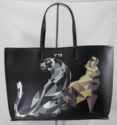 V°73 Shopper nero leone