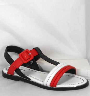 GAUDÌ SANDALO 66641 BABY WHITE RED