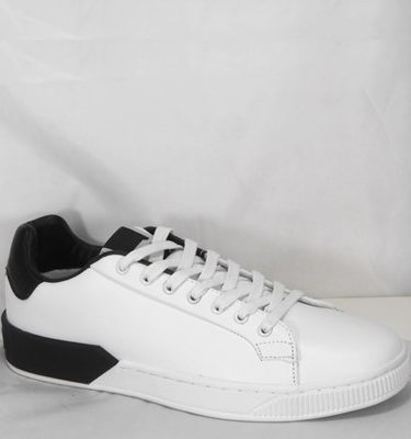 GAUDÌ SNEAKER 66840 LEATHER WHITE BLACK