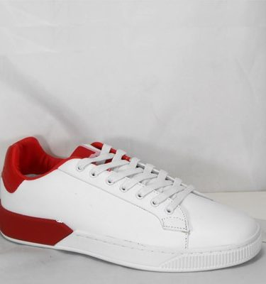 GAUDÌ SNEAKER 66840 LEATHER WHITE RED