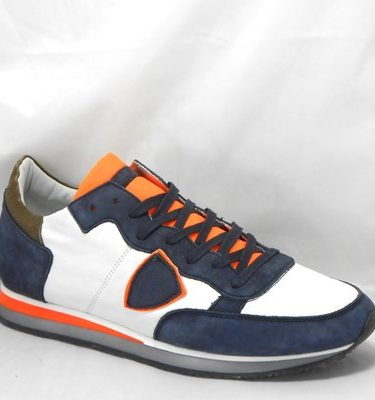 PHILIPPE MODEL TRLU WZ10 MONDIAL VEAU BLEU ORANGE